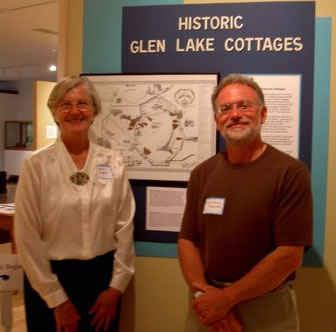 Author Barbara Siepker and photographer Dietrich Floeter present their first 15 cottages at the Leelanau Historical Museum.   Photo courtesy of the Leelanau Historical Museum